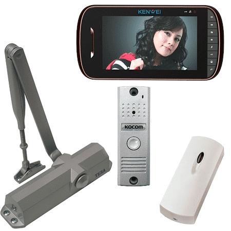 Комплект видеодомофона для офиса с СКД