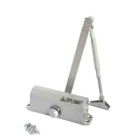 Доводчик дверной DIPLOMAT 603 EN3, серебро