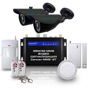 GSM сигнализация Sapsan GSM MMS 3G с датчиками, 2-мя уличными камерами, функцией ВИДЕОЗВОНОК