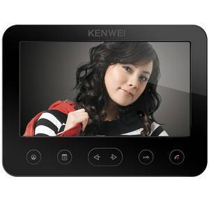 Монитор видеодомофона KW-E706FC-W100 черный