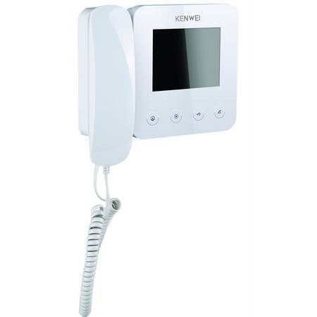 Монитор видеодомофона KENWEI KW-E400FC white Vizit