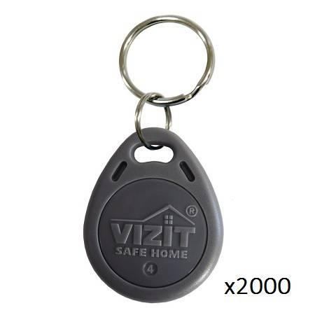Ключ VIZIT-RF2.1 (Proximity брелок) упаковка 2000 шт.