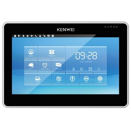 Монитор видеодомофона KENWEI KW-SA20TC black