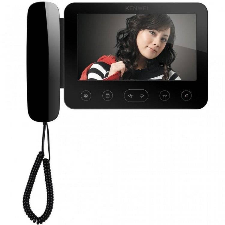 Монитор видеодомофона KENWEI KW-E705FC-W200 черный XL