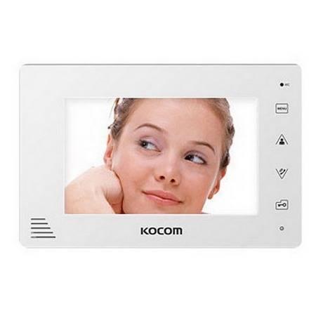 Монитор видеодомофона KOCOM KCV-A374SD (белый) XL-12V