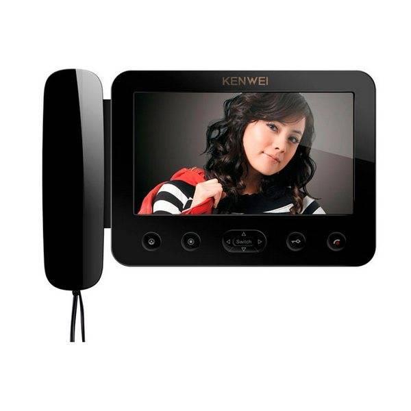 Монитор видеодомофона KENWEI KW-E705FC-W100 black VIZIT