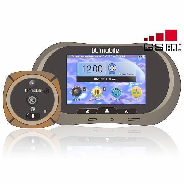 Дверной видеоглазок с монитором и записью bb-mobile GSM ГлазОК бронзовый