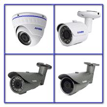 IP видеокамеры AMATEK с двойным питанием микрофона