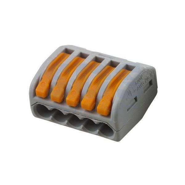 Клемма 222-415 многоразовая, универсальная, 5-проводная