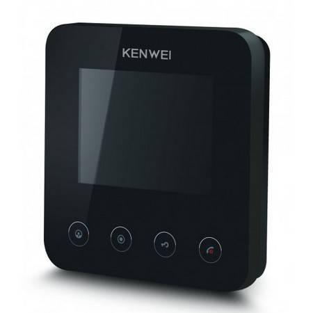 Монитор видеодомофона KENWEI KW-E401FC black XL