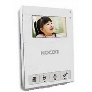 Монитор видеодомофона KOCOM KCV-434SD белый