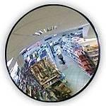Зеркало сферическое обзорное DL 805 мм с черным кантом