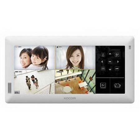 Монитор видеодомофона KOCOM KVR-A510 белый XL (встроенный DVR)