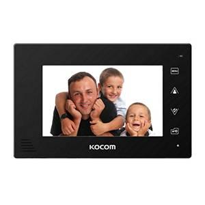 Монитор видеодомофона KOCOM KCV-A374SD black Vizit