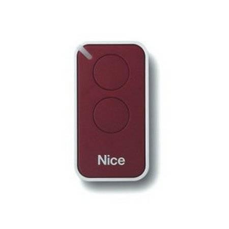 Пульт управления 2-канальный, цвет бордовый NICE INTI2R