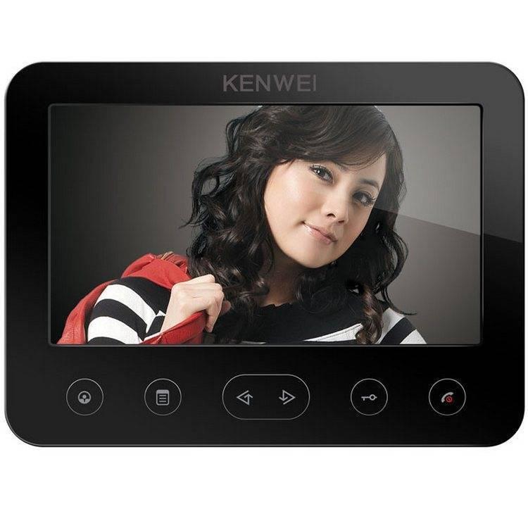 Монитор видеодомофона KENWEI KW-E706FC black Vizit