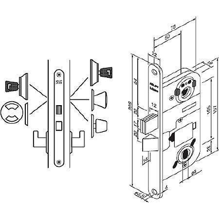Замок механический правый Abloy LC 200 right