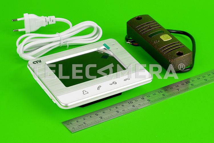 Комплект видеодомофона CTV-DP401 S серебро