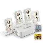 Комплект IP видеонаблюдения Full HD 1080p (NOVICAM) для офиса на 4 камеры со звуком