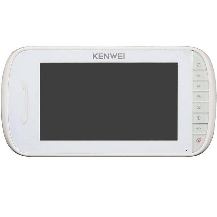 Монитор видеодомофона KENWEI KW-E703FC-M200 white Vizit