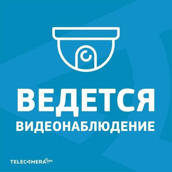 Наклейка «Ведется видеонаблюдение» 250х250 мм