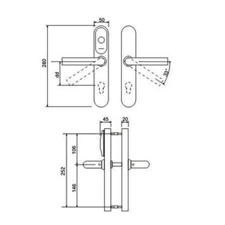 Электронная накладка на замок IRON LOGIC Eurolock EHT net серебро (dd = 0 мм)