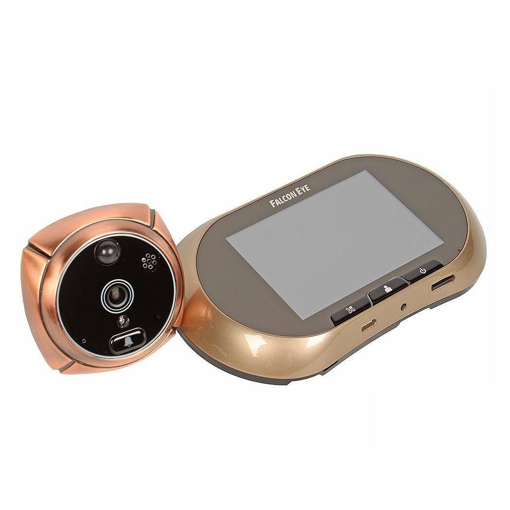 GSM-видеоглазок с монитором и записью FALCON EYE FE-VE03 бронзовый