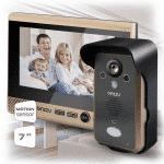 Комплект беспроводного видеодомофона GINZZU HS-WD701B