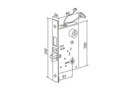 Модуль электромеханического дверного замка IRON LOGIC Замок 002