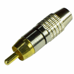 Разъем TANTOS TS RCA штекер металл