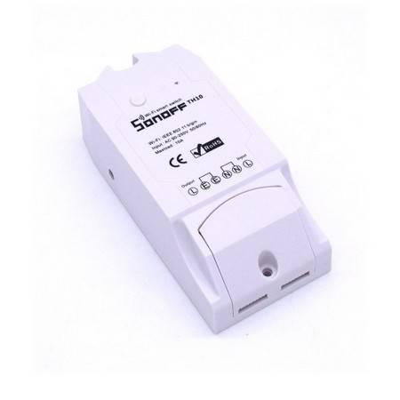 WiFi реле Sonoff TH16A (предохранитель + разъем для датчиков + 16А)