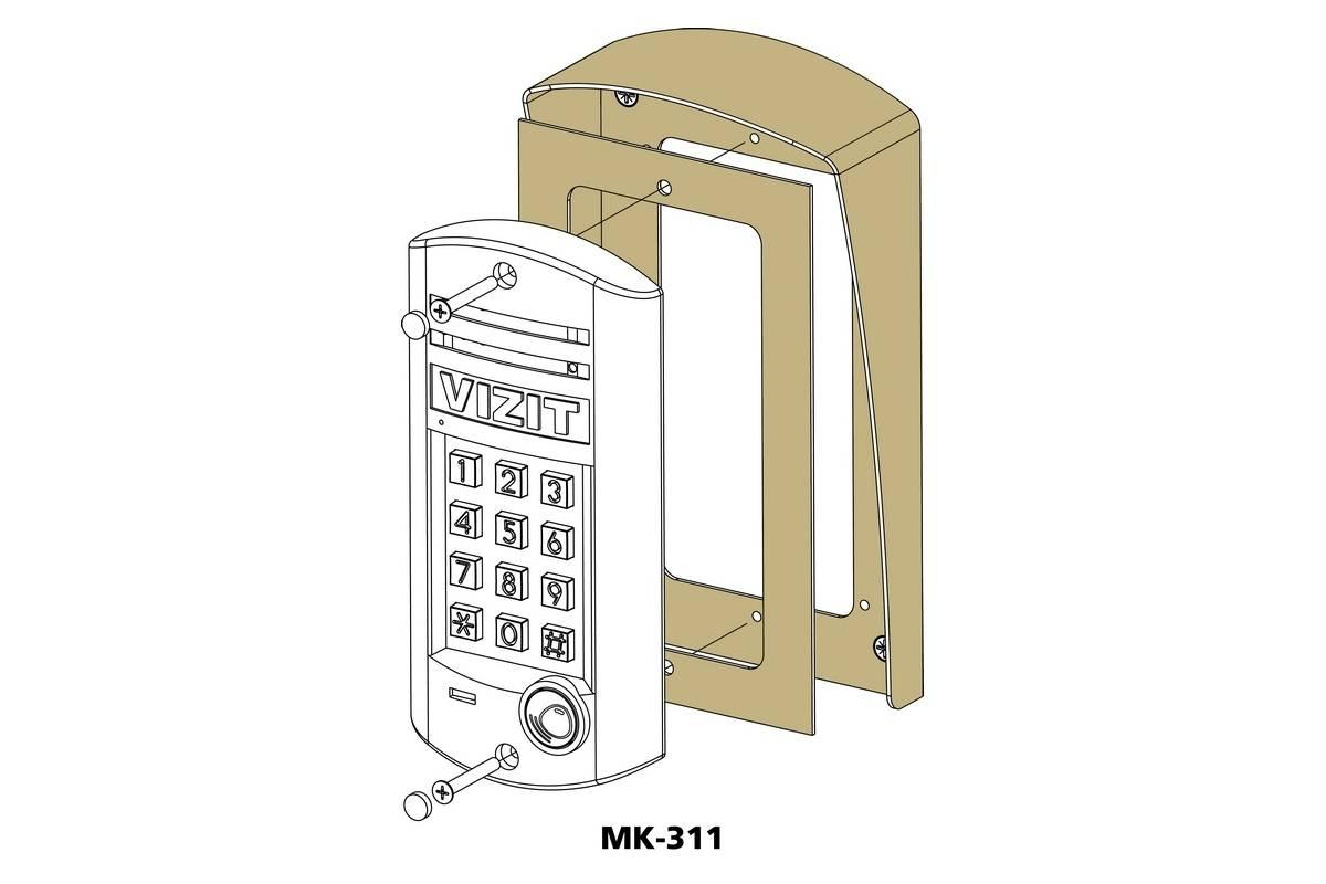 Блок вызова видеодомофона VIZIT БВД-314RCP