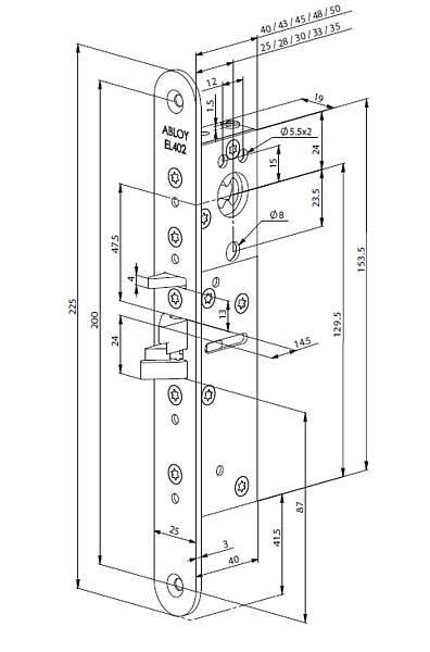 Замок электромеханический врезной Abloy EL402/000000