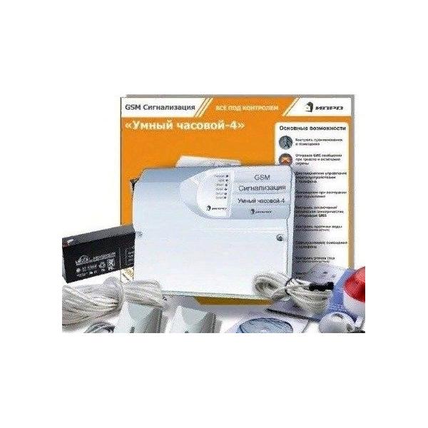 GSM-Сигнализация ИПРО-4 (набор для дачи, дома, квартиры ПРОФИ)