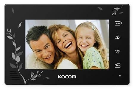 Монитор видеодомофона KOCOM KCV-A374LE-4 черный
