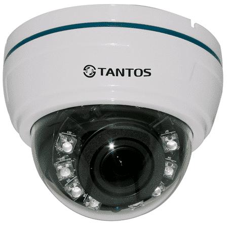 AHD видеокамера купольная TANTOS TSc-Di720pAHDv (2.8-12)