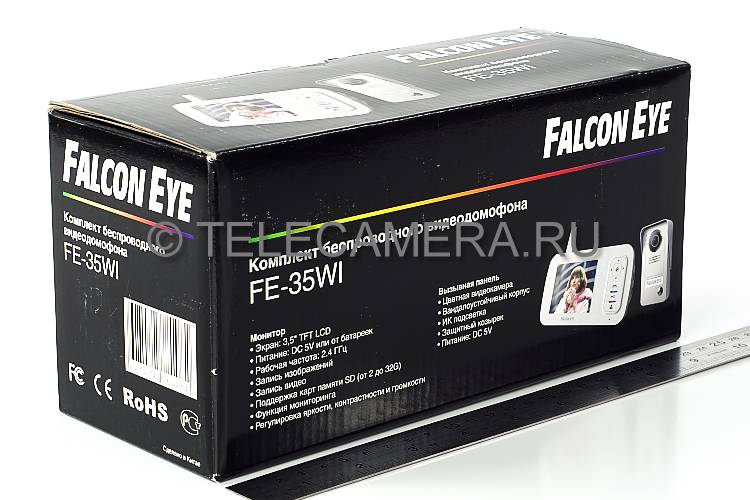 Комплект беспроводного видеодомофона FALCON EYE FE-35WI