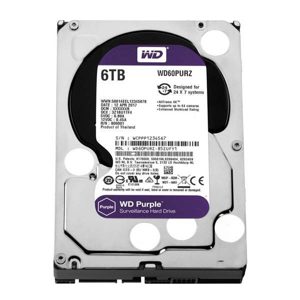 Жесткий диск WD Purple WD60PURZ