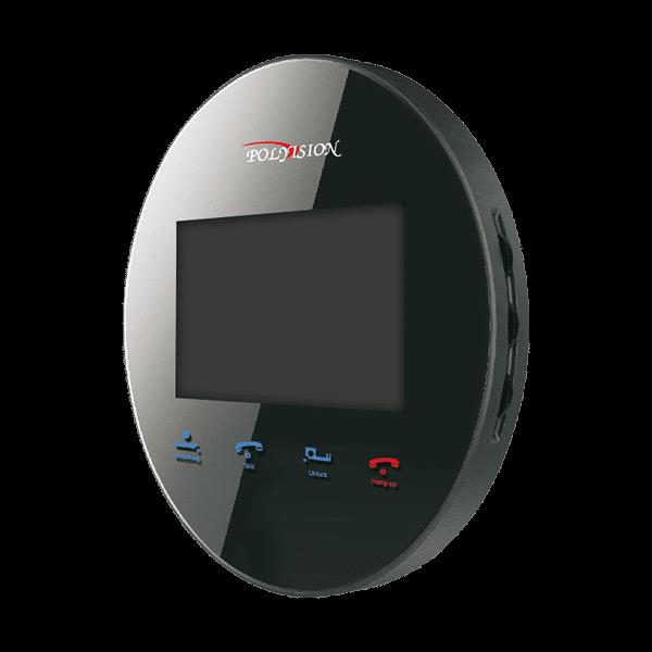 Монитор видеодомофона POLYVISION PVD-4S v.5.3 черный