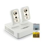 Комплект IP видеонаблюдения Full HD 1080p (NOVICAM) для офиса на 2 камеры со звуком