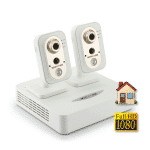 Комплект IP видеонаблюдения FullHD 1080p (NOVICAM) для квартиры с 2 беспроводными камерами со звуком