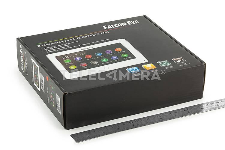 Монитор видеодомофона FALCON EYE FE-70 CAPELLA DVR черный