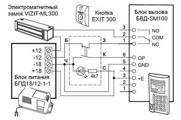 Замок электромагнитный VIZIT-ML300-50