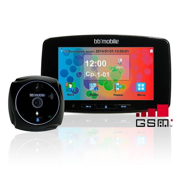 Дверной видеоглазок bb-mobile ПРОГлазОК с GSM черный