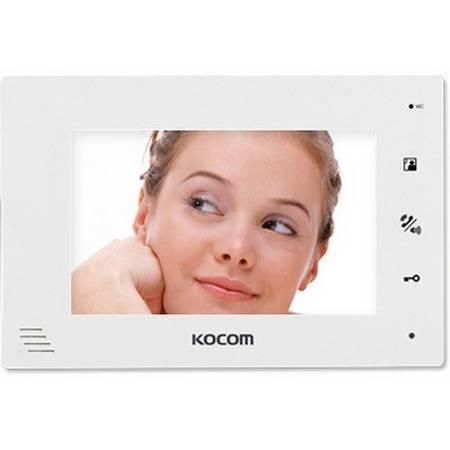 Монитор видеодомофона KOCOM KCV-A374SD (белый) 12V версия
