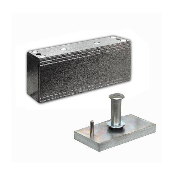 Электромагнитный замок ОЛЕВС М1-150 серебряный антик