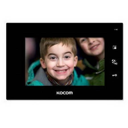 Монитор видеодомофона KOCOM KCV-A374SD (черный) 12V версия