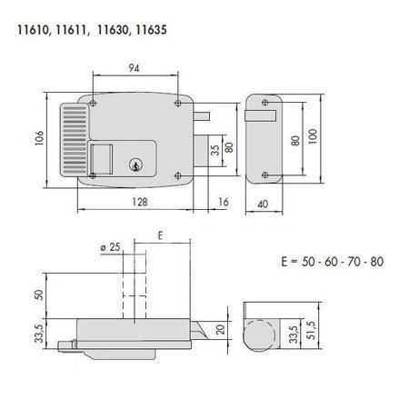 Замок электромеханический накладной CISA 11610.60.3