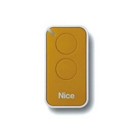 Пульт управления 2-канальный, цвет желтый NICE INTI2Y
