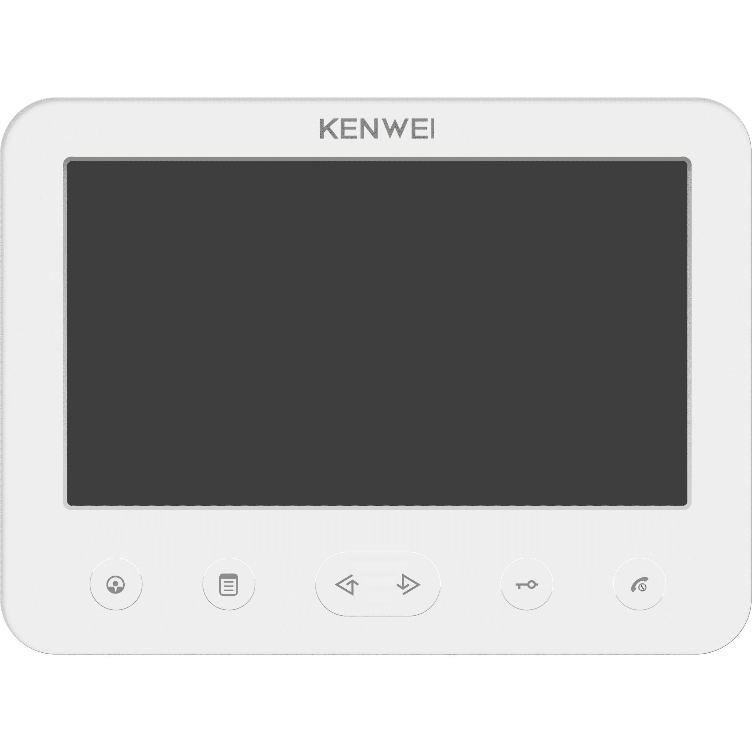 Монитор видеодомофона KENWEI KW-E706FC-W200 white